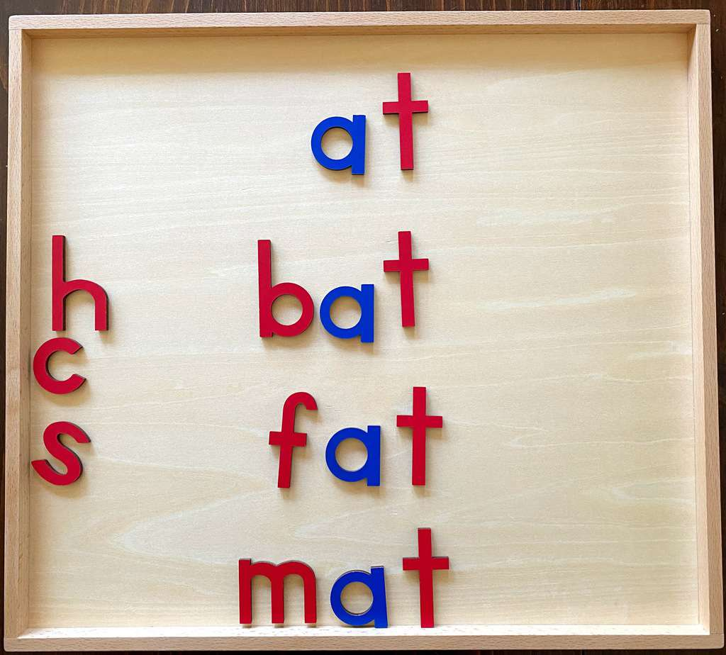 wooden letters for phonogram practice