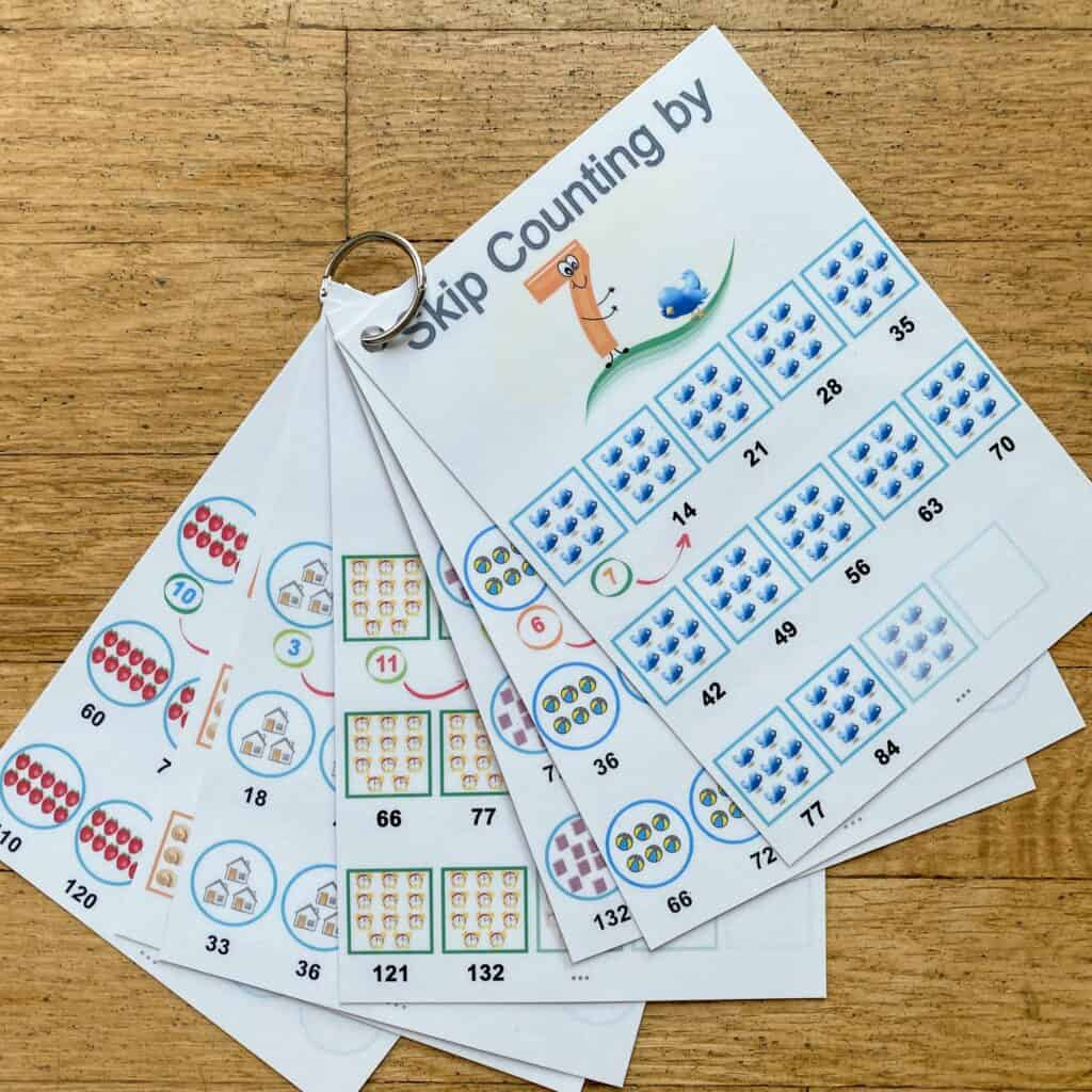 skip counting flashcards