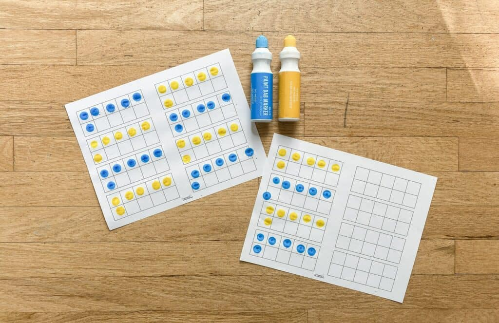 dot paints skip counting activity
