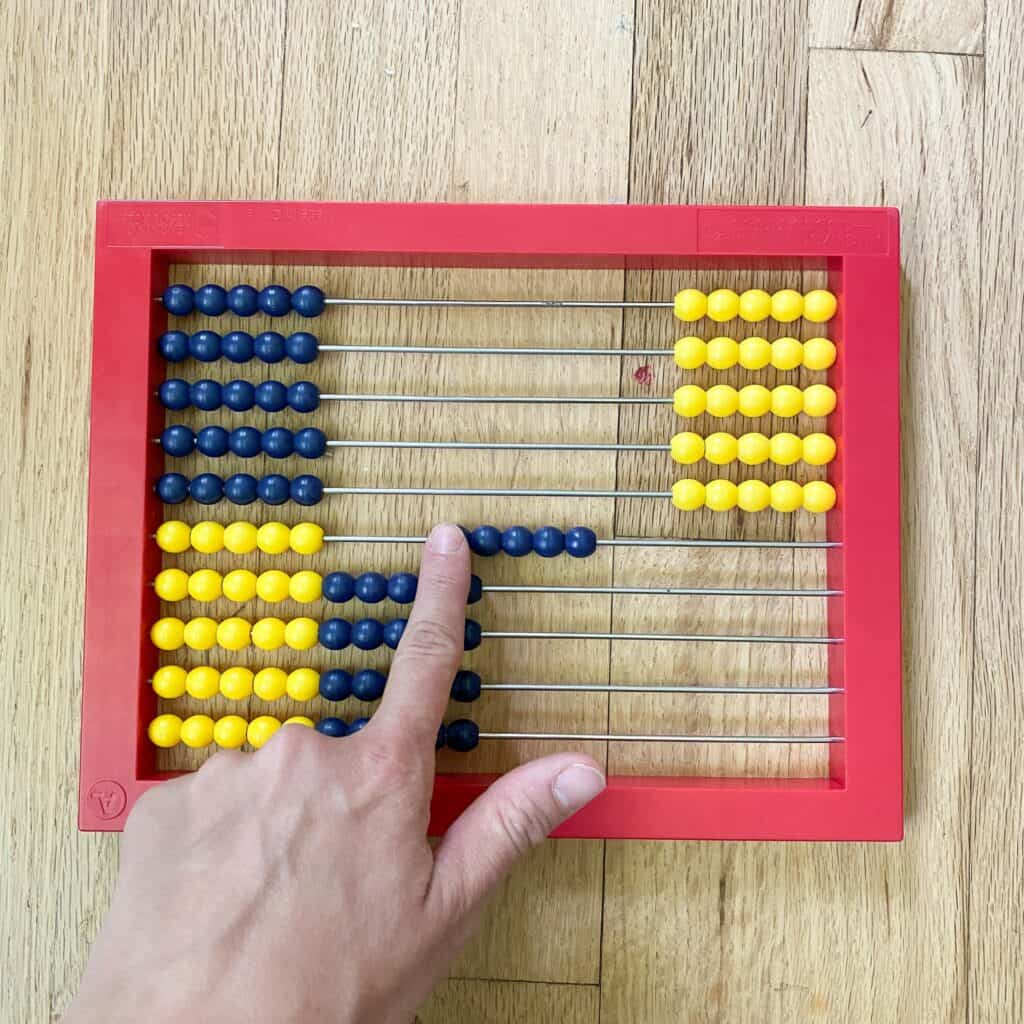 skip counting on the abacus