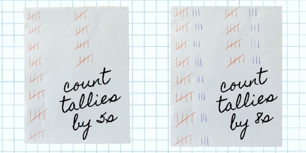 skip counting activities tallies